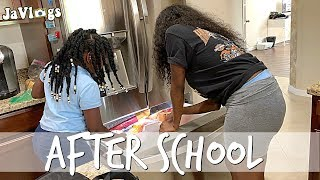 After School Hunger + Dad Take Your Daughter To School Day | Family Vlogs | Javlogs