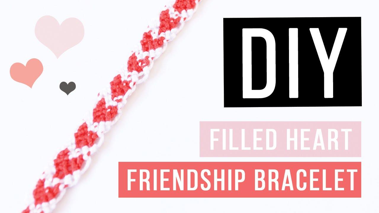 Diy Filled Heart Friendship Bracelet