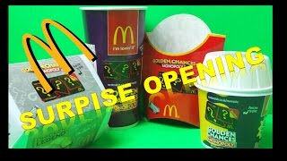 MCDONALD'S MONOPOLY GOLDEN CHANCES 2015 MEGA 14 x SURPRISE TICKET OPENINGS