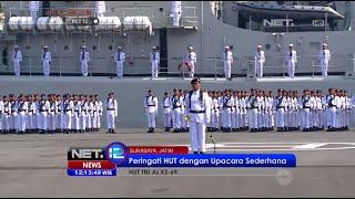 HUT TNI AL digelar upacara sederhana di Dermaga Koarmatim Surabaya - NET12