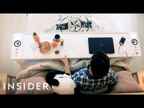 Table Lets You Work And Eat In Bed