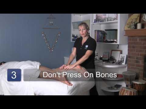Leg Massage During A Hot Stone Massage : Hot Stone Massage