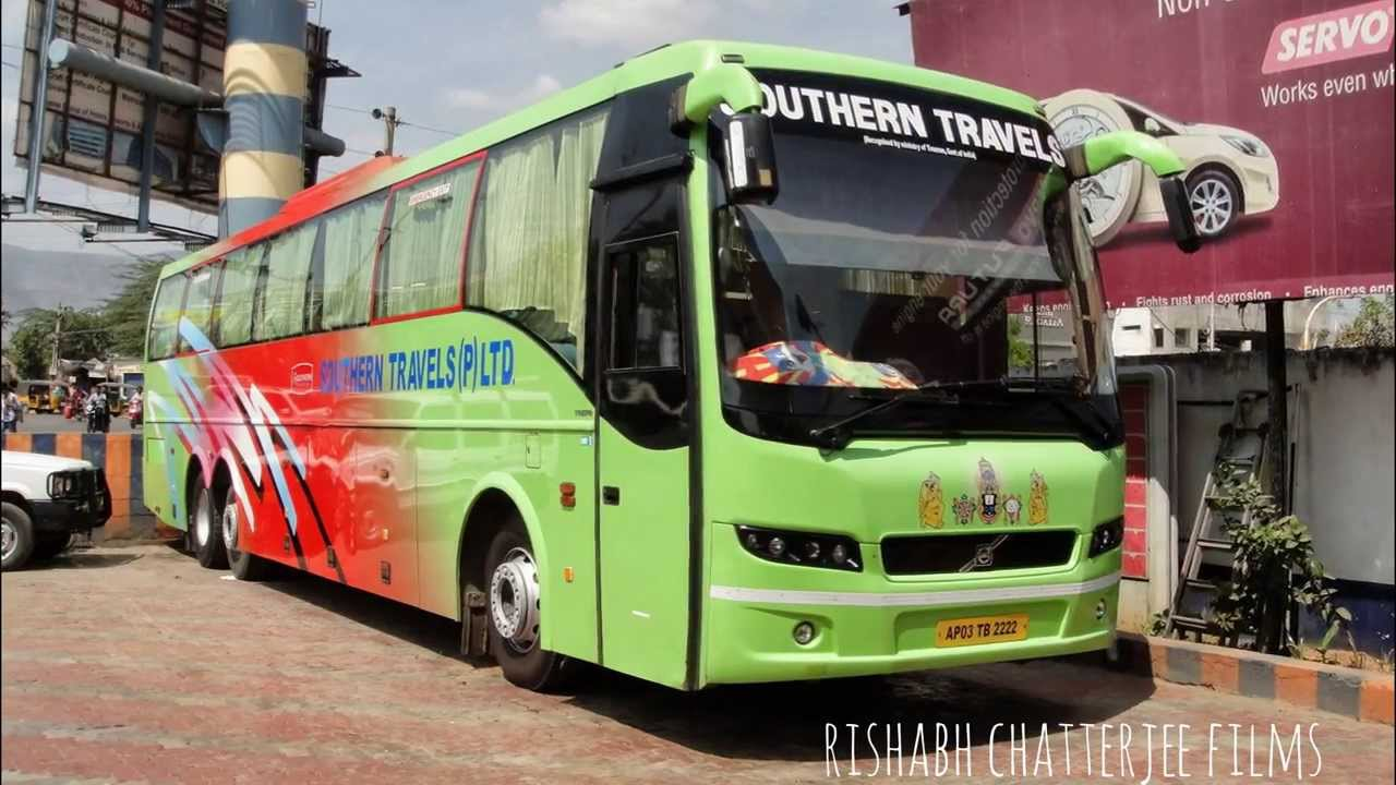 Southern Travels Volvo 9400 B9r Bus At Tirupati Andhra