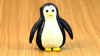Play doh Penguin | Play Dough Modelling Creative DIY Fun for Kidu Kidu Kids