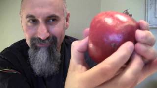 Close-up of How to Squish Pomegranates with Your Fingers, Making Juice - ASMR - Crunching, Cracking