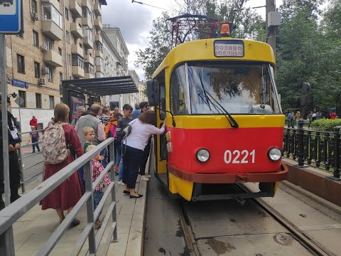 Московский парад трамваев 13 июля 2019 г. и история: от конки до электрики (с англ. субтитрами)
