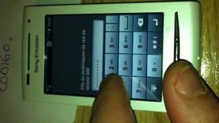 Sony ericsson E15i - cogido erroneo