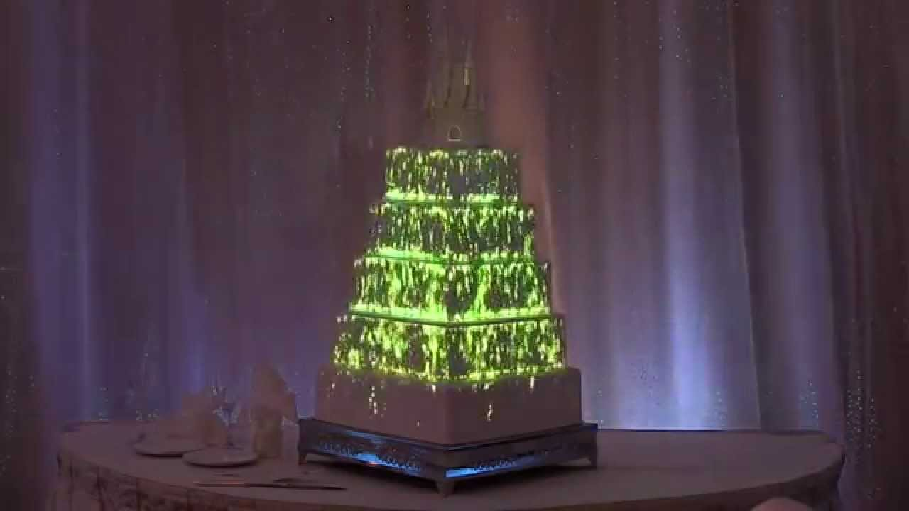 wedding cake projection interactive wedding cake projection mapped from disney 23573