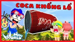Phong Cận khám phá thành công lon cocacola kim cương khổng lồ trong mini world và cái kết bất ngờ