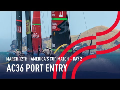 The 36thAmerica's Cup | Port Entry Stern Camera | 🔴 LIVE Day 2