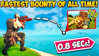 *WORLD RECORD* FASTEST BOUNTY EVER!! (0.8 SECONDS!) - Fortnite Funny Fails and WTF Moments! #1113