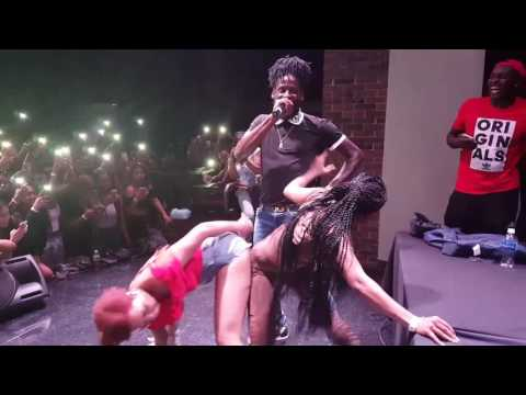 Aidonia performing at Buffalo State College in New York City