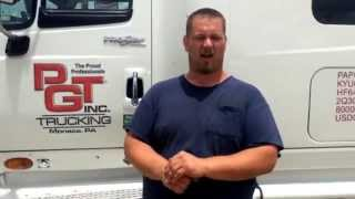 Meet Chris, a flatbed driver for PGT Trucking