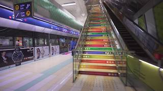 United Arab Emirates, Dubai, metro ride from Deira City Centre to Airport Terminal 1