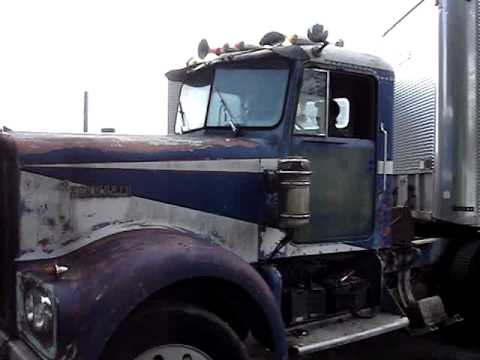Cabover Trucks For Sale >> 1964 Kenworth W925 truck #2 start up and moving it - YouTube