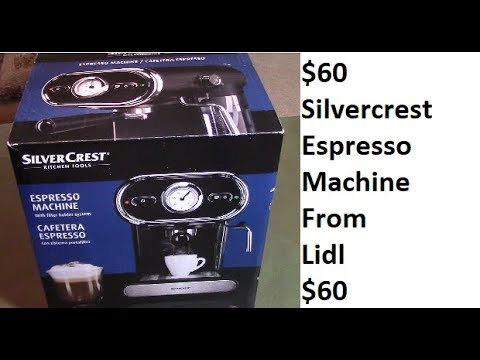 Lidl Silvercrest Espresso Machine Review Unboxing