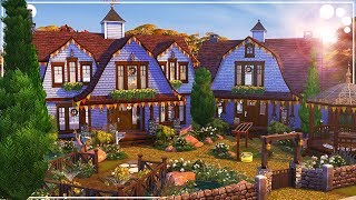 GRAND RIVER GAMBRELS 🍁 (FAMILY HOME) | The Sims 4 | Speed Build