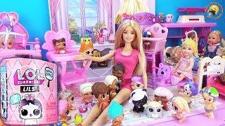 Мультик Волшебный котенок Приключение в садике Кукла БАРБИ НЯНЯ Посылки ЛОЛ СЮРПРИЗЫ для детей