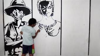 Gambar Keren One Piece Hitam Putih
