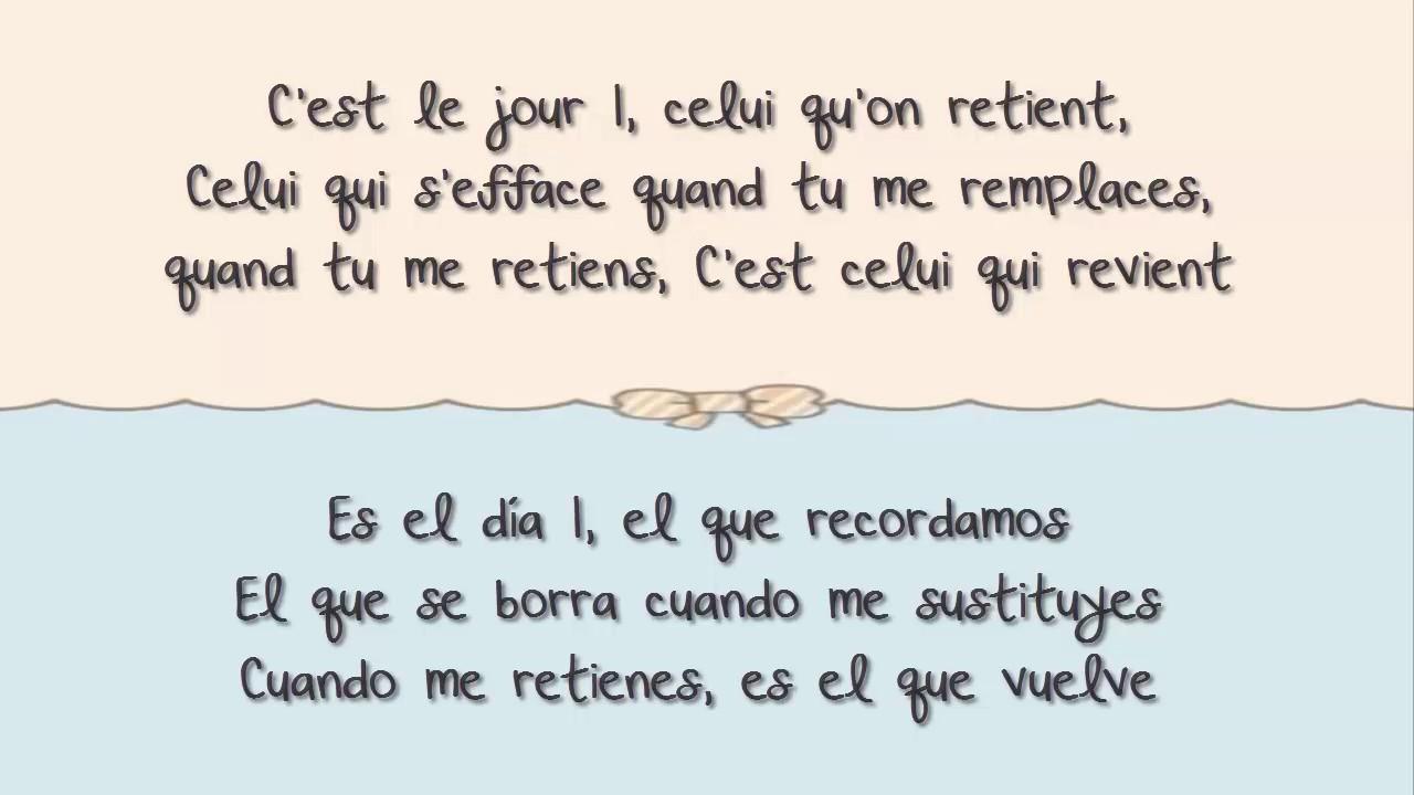 Louane Jour 1 Con Letra Español Frances