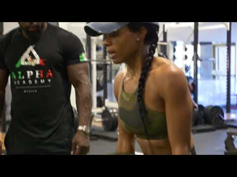 Pep Talk at the squat rack. Full lower body routine with Regina Perez