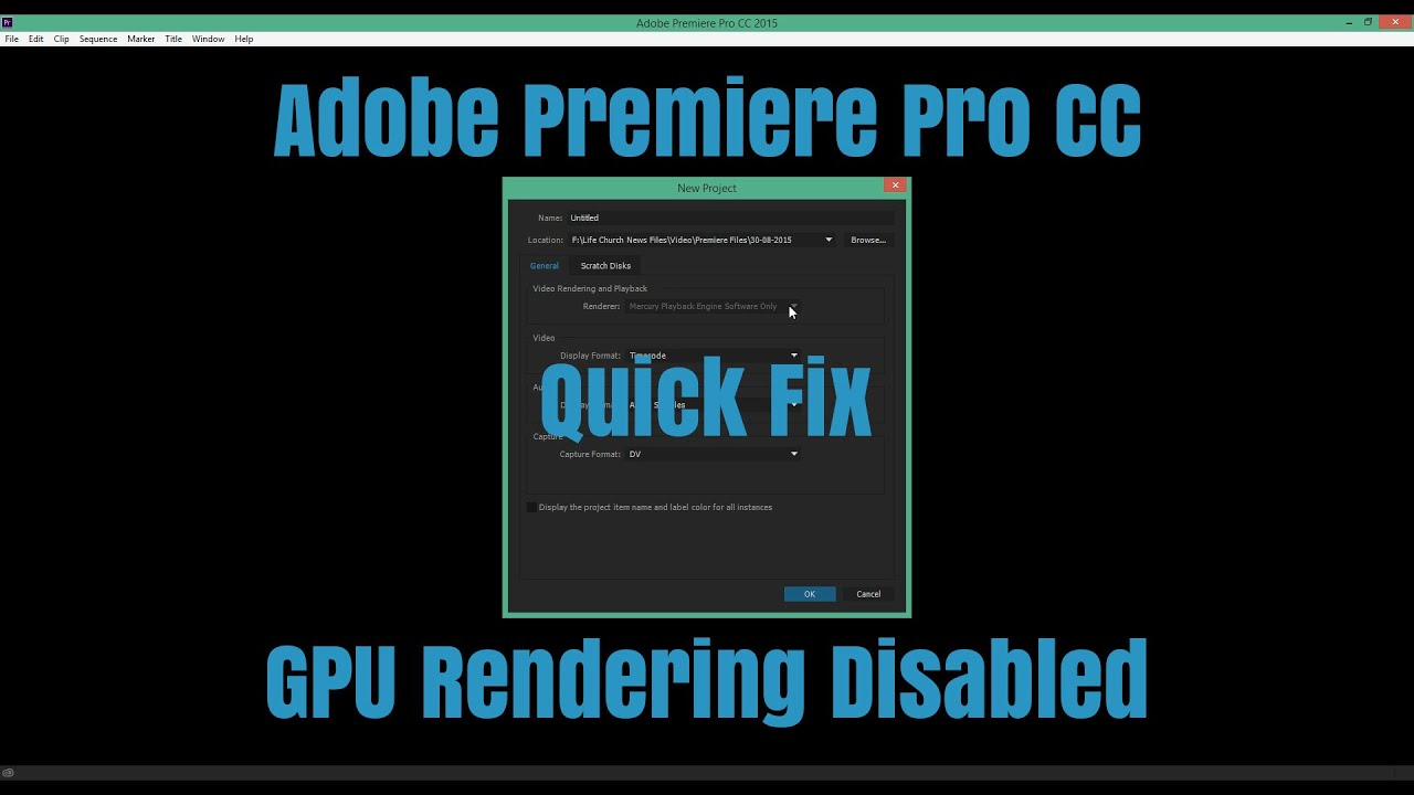 Adobe Premiere Pro CC - GPU Rendering Not Available?