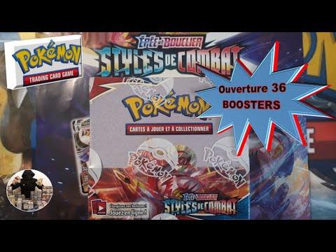 Download Ouverture d'une boite de 36 boosters Pokemon Styles de combat, épée et bouclier EB05 !