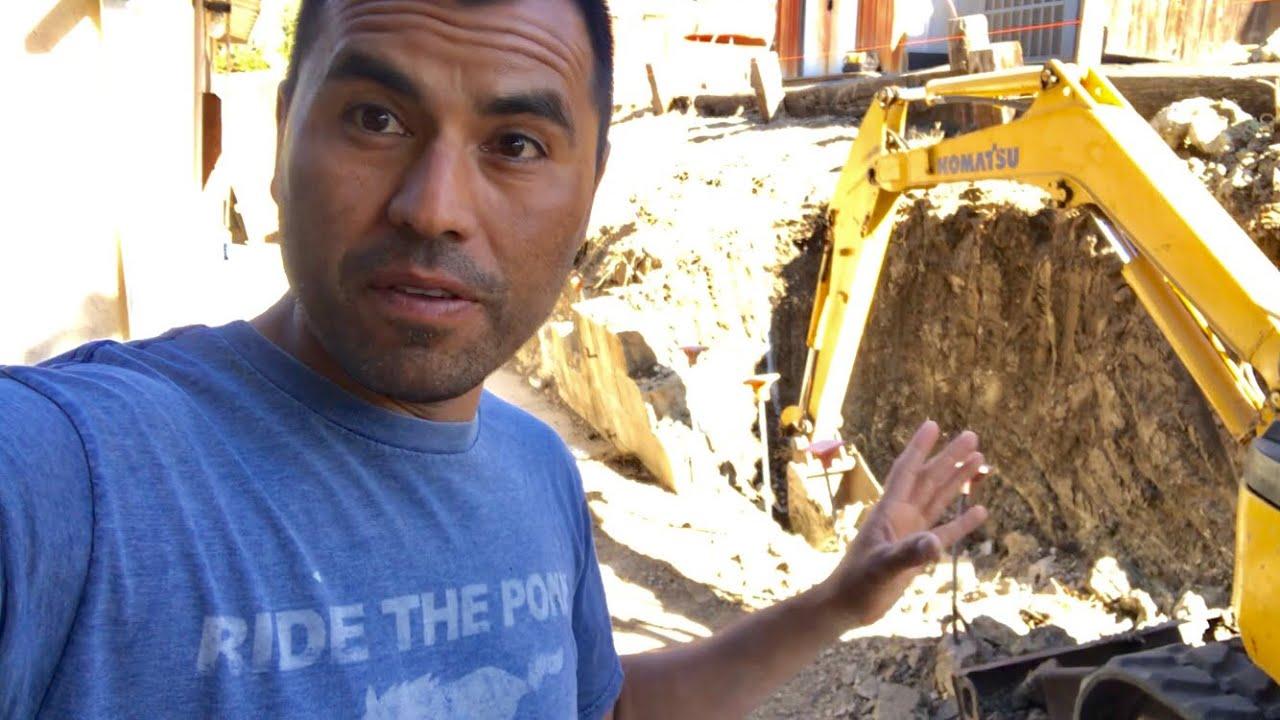 PRIMER DIA DE COMO CONSTRUIR MURO BARDA RETENEDORA / BUILDING  RETAINING WALL