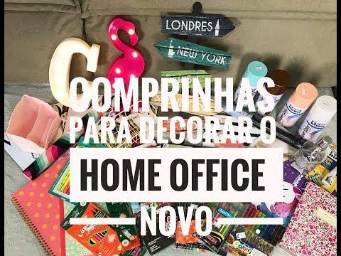 COMPRINHAS PARA A  DECORAÇÃO DO HOME OFFICE NOVO - Por Vaidade não tem idade