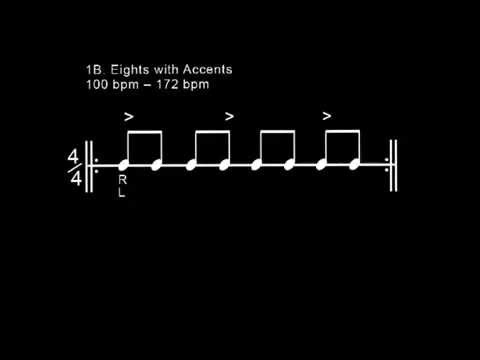 Snare 1B: Eights with Accents