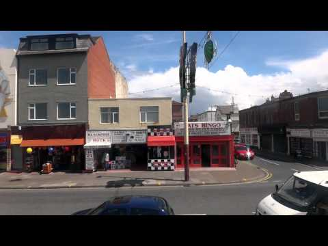 Tram Ride Along The Golden Mile Blackpool UK (from Little Bispham To The Pleasure Beach).