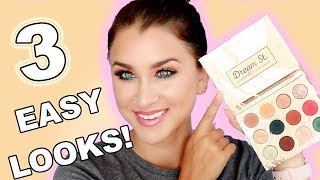 KATHLEENLIGHTS X COLOURPOP DREAM ST. PALETTE- 3 EASY EYE LOOKS! | Beauty Banter