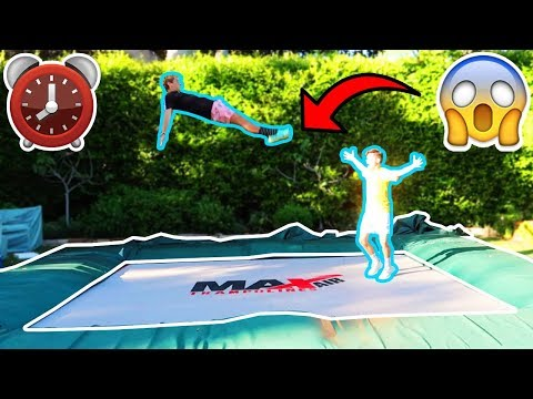 24 HOUR OVERNIGHT CHALLENGE ON A SUPER TRAMPOLINE!