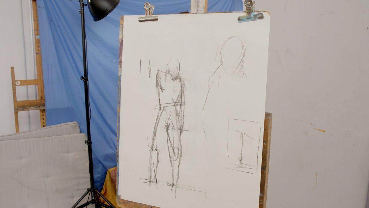 Volledige figuur modellen naakt