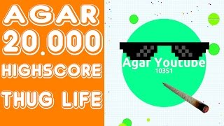 Agar.io WORLD RECORD 20.000 SCORE + Thug Life !