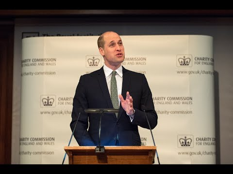 The Duke of Cambridge gives the Keynote Speech at the Charity Commission AGM