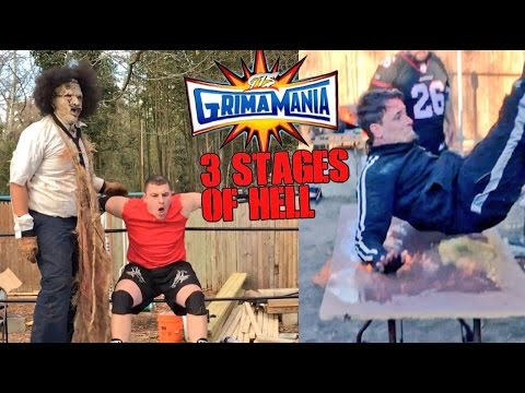 LEATHERFACE TAKES VLAD TO HELL! FLAMING TABLE MATCH GTS WRESTLING CHAMPIONSHIP!