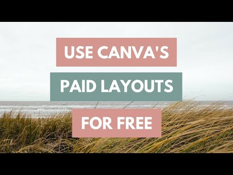 How To Use Canva's Paid Image Layouts For Free ♡ Easy Tutorials with Reina