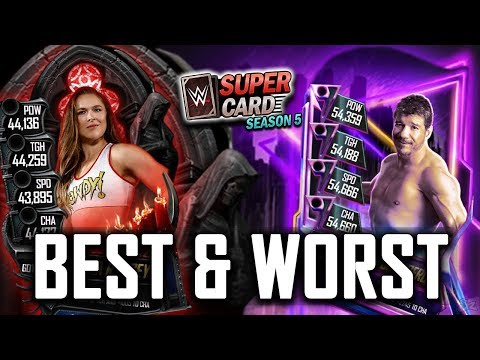 BEST AND WORST GOTHIC & NEON TIER CARDS!! | WWE SuperCard Season 5