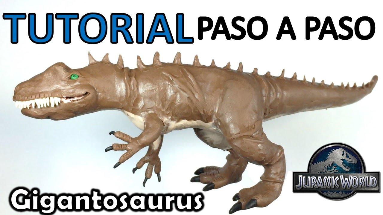 Como hacer un dinosaurio giganotosaurus de plastilina paso for Como disenar un jardin paso a paso