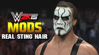 WWE 2K15 PC Mods - Sting Real Hair Mod! (2015)