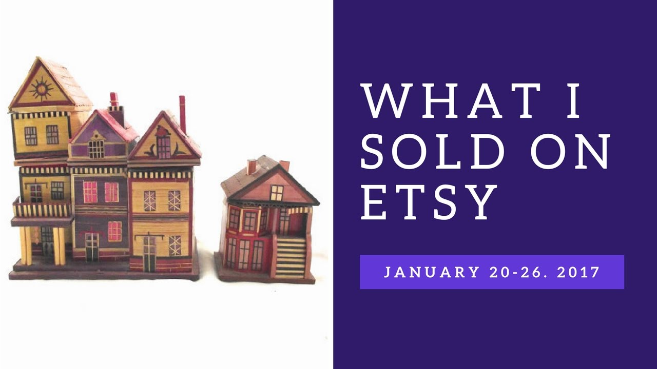 Sales Goal Met! What I Sold on Etsy January 20-26