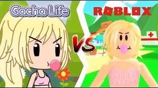 Gacha Life faces vs Roblox faces