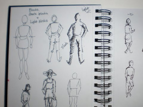 Sketching and painting on the go – people a tip of how to start