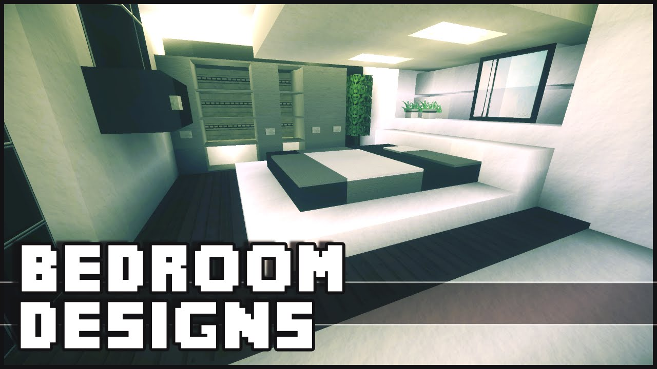Minecraft bedroom designs ideas youtube for Minecraft house interior living room
