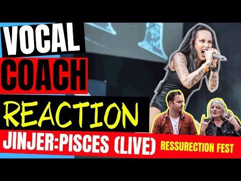 🤘 JINJER Reaction, Pisces LIVE, Vocal Coach Analysis, Resurrection Fest - Metal Reaction
