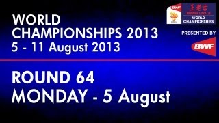 R64 - MS - Lee Chong Wei vs Scott Evans - 2013 BWF World Championships