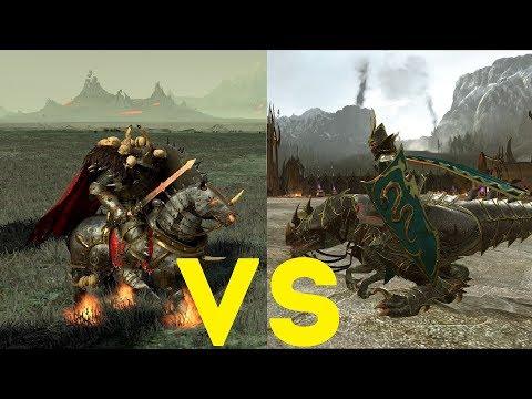 Рыцари ужаса на хладнокровных VS Рыцари Хаоса Total War Warhammer 2. тесты юнитов v1.5.0.