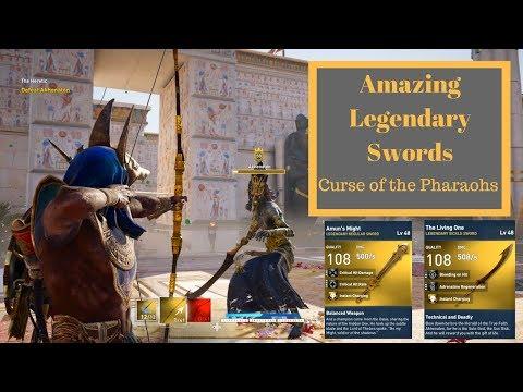 Assassins Creed Origins| Legendary Swords| Curse of the pharaohs| Amuns might, The Living One |