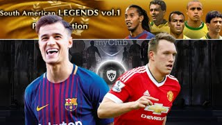 PES 2018|South American legends vol.1+ PES Selection pack opening|Black ball|BY PES INFO TRICKS
